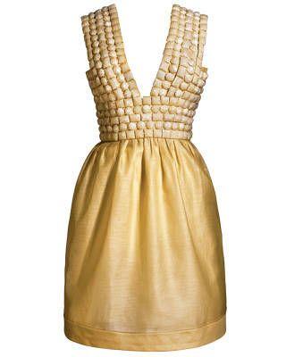 Stone-embroidered silk-organza dress, Burberry Prorsum