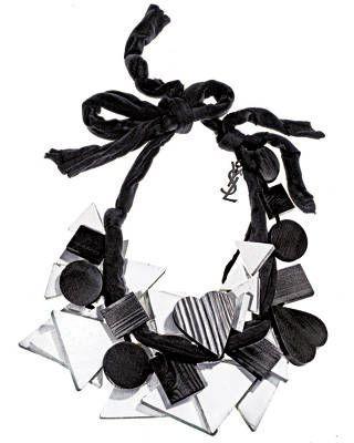 Yves Saint Laurent wood-scarf necklace