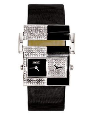 Piaget black Chinese-lacquer-and-diamond watch