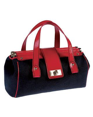 Emporio Armani canvas-and-patent-leather bag