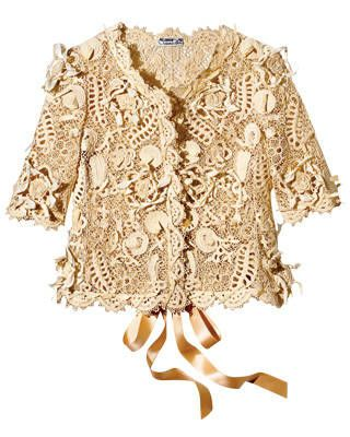 Cotton crochet jacket, Oscar de la Renta