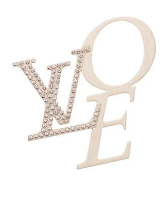LOVE brooch, Louis Vuitton