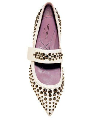 Patent leather flat, Alberta Ferretti
