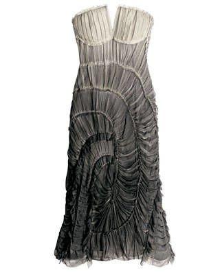 Silk-chiffon dress, Alberta Ferretti