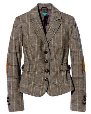 Plaid blazer, United Colors of Benetton