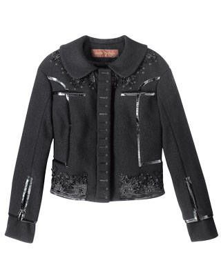 Embroidered wool jacket, Louis Vuitton
