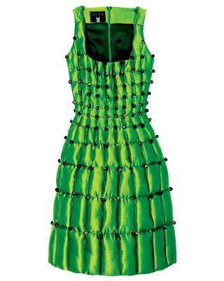 Crystal-trim silk dress, Giles