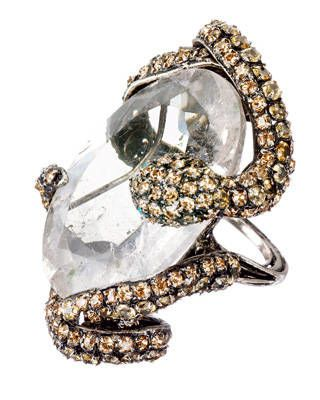 Rutilated quartz ring by Iradj Moini