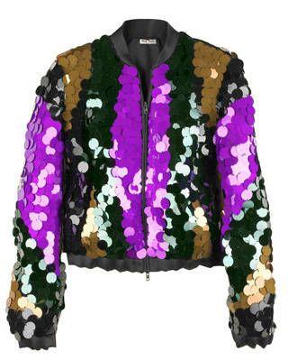 Miu Miu sequined bomber jacket