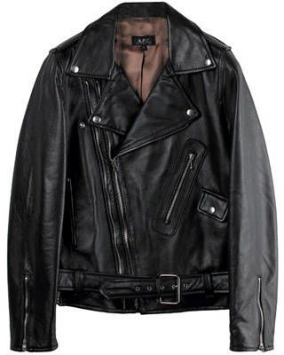 A.P.C. fashion motorcycle leather jacket