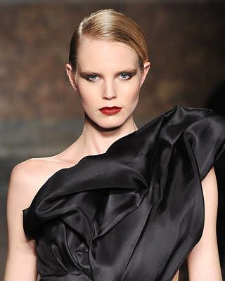 Francesco Scognamiglio Fall Fashion Week Hairstyle