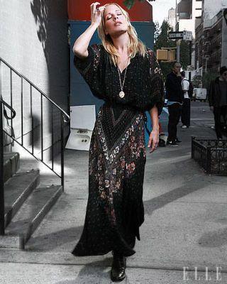 Emma Caulfield- street fashion – Tribeca Film Festival