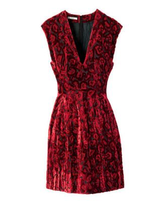 fall fashion - Prada velvet dress