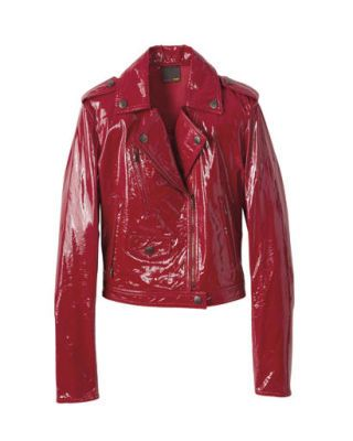 fall fashion - Fendi patent leather jacket