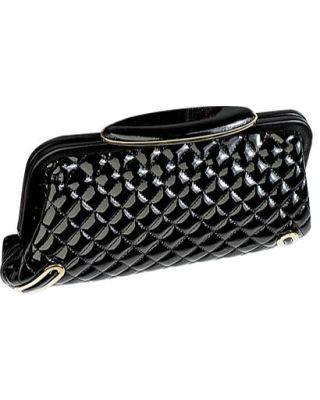 fall trends - Brian Atwood quilted clutch with copper details