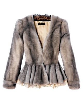 Cropped mink jacket, Roberto Cavalli