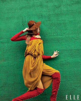fall trends - Derek Lam Georgette strapless dress
