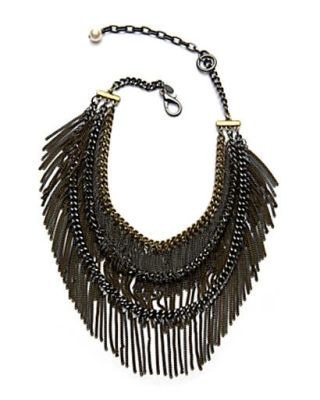 fall fashion - Sequin tiered fringe necklace