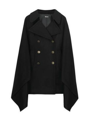 fashion trends - DKNY double-breasted wool cape