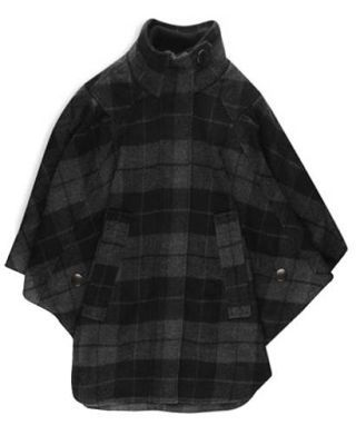 fashion trends - plaid cloak by Forever21