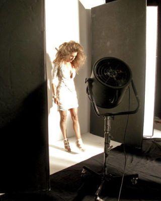 cover shoots - Sarah Jessica Parker on set