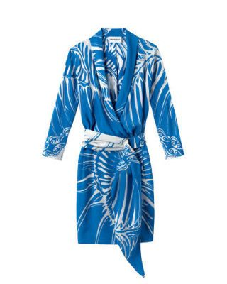 Blue, Sleeve, Collar, Textile, Style, Electric blue, Fashion, Pattern, Cobalt blue, Costume design,