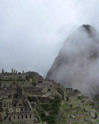fog in Machu Picchu