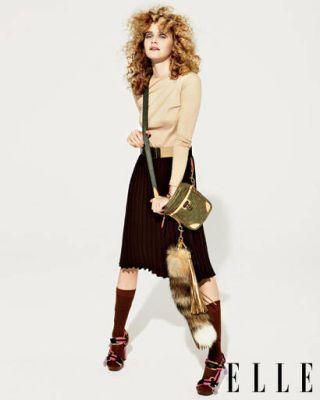 Ashi Studio shirt, Jones New York skirt, Louis Vuitton bag