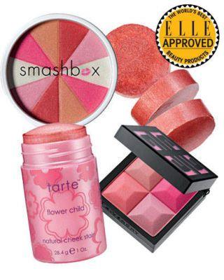 Smashbox blush, Givenchy, Tarte cheek stain
