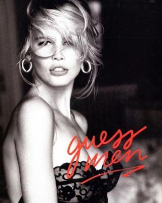 Claudia Schiffer Guess ad