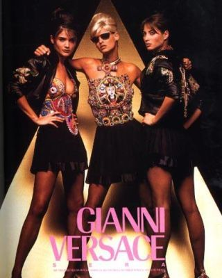 Helena Christensen, Linda Evangelista, and Christy Turlington Versace ad flashback