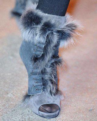 Mink bootie