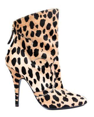Leopard calfskin bootie