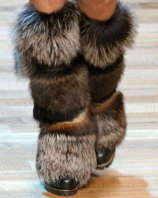 Fox flat boots