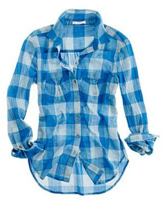 Clothing, Blue, Product, Plaid, Dress shirt, Collar, Pattern, Sleeve, Textile, White,