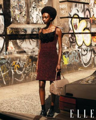 wool cable-knit dress