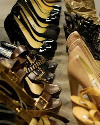 Yellow, Black, Tan, Leather, Collection, Synthetic rubber, High heels, Shoe store, Bronze, Dress shoe,
