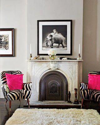 safari-inspired sitting room