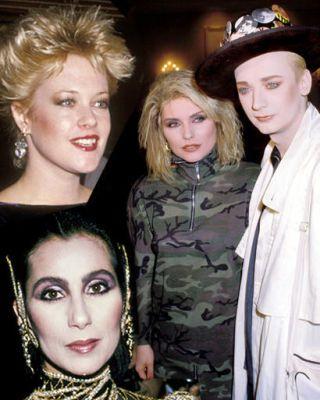 Cher, Melanie Griffith, Debbie Harry, Boy George
