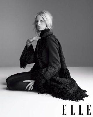 Karolina Kurkova in layered knits