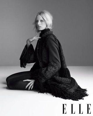 Karolina Kurkova in layered knits