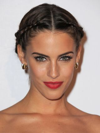 jessica lowndes center part hairstyle