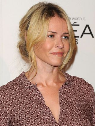 chelsea handler center part hairstyle