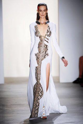 Clothing, Fashion show, Shoulder, Joint, Runway, Fashion model, Style, Formal wear, Beauty, Fashion,
