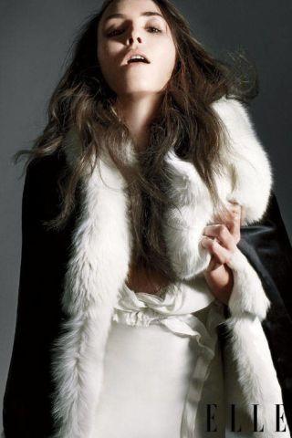 Flutter-sleeve dress with georgette bodice, Donna Karan New York