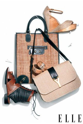 sandals and purses