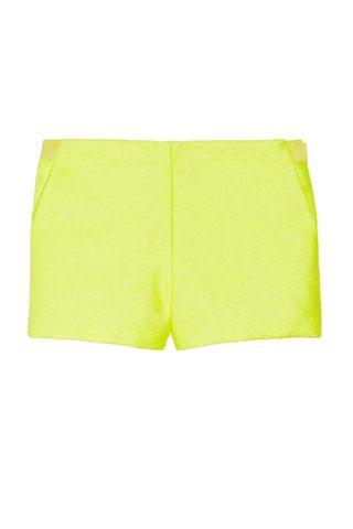 Vanessa Bruno neon woven shorts