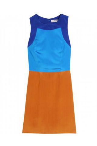 Etro Color Block Silk Dress