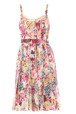 D&G mimosa-print pleated dress