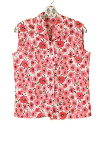 Free People vintage sleeveless floral blouse